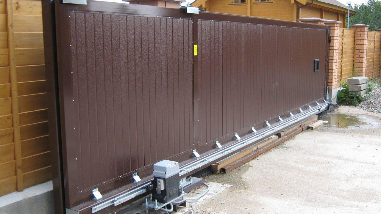 Установка металлических ворот цена