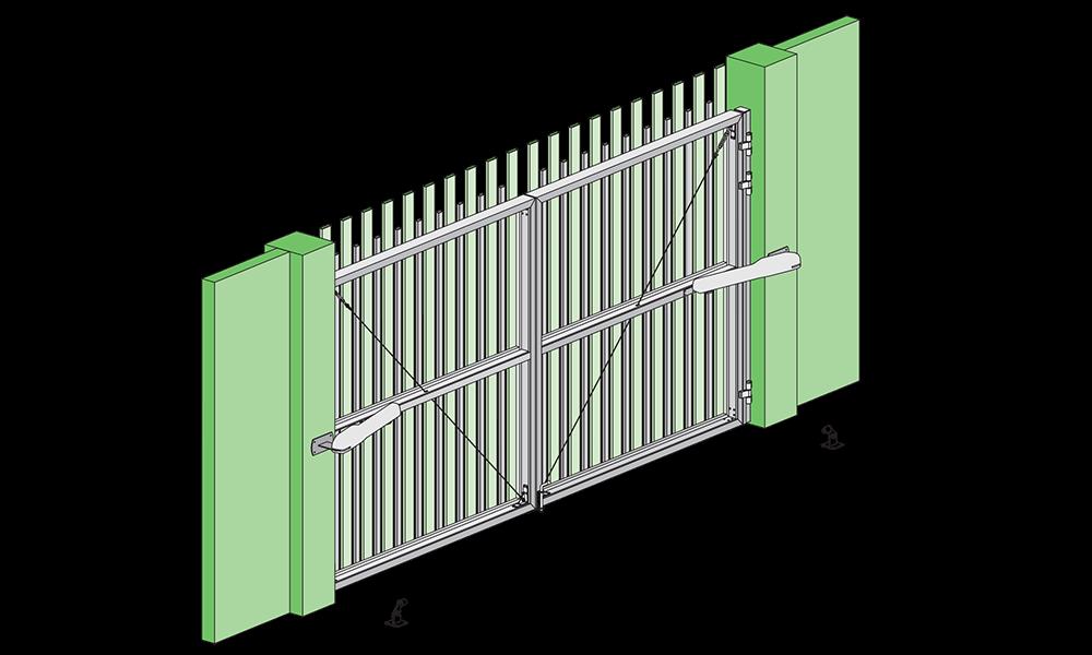 Монтаж распашных ворот Алютех цена