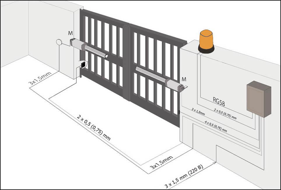 Монтаж распашных ворот Каме цена