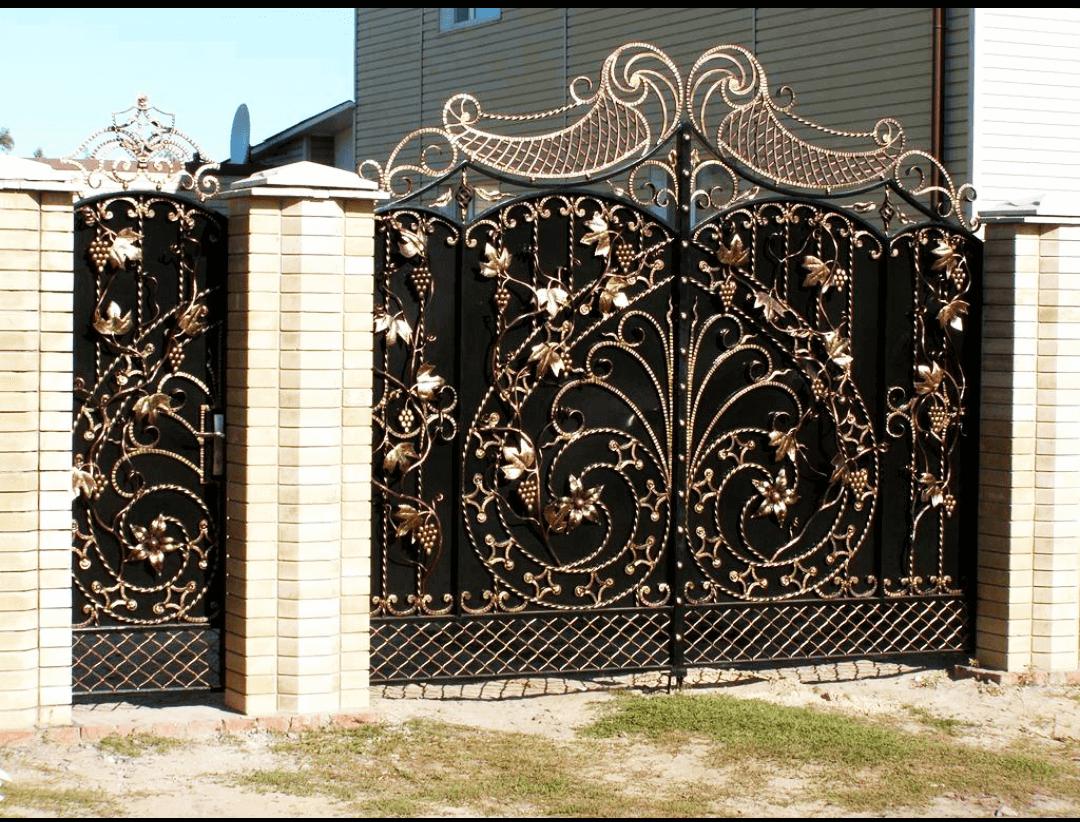 Фотографии кованых ворот фото 11