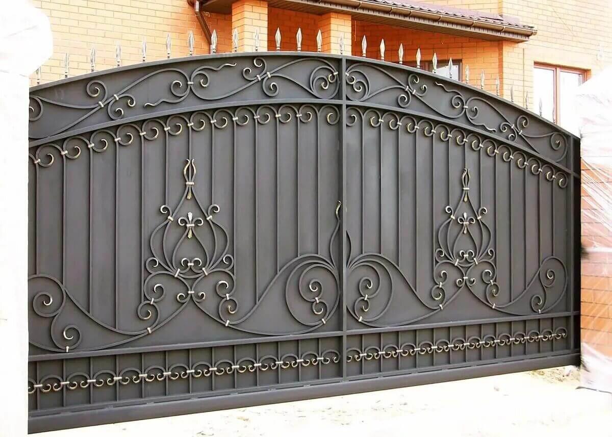 Фотографии кованых ворот фото 8