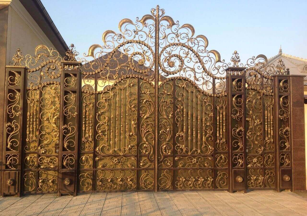 Фотографии кованых ворот фото 1