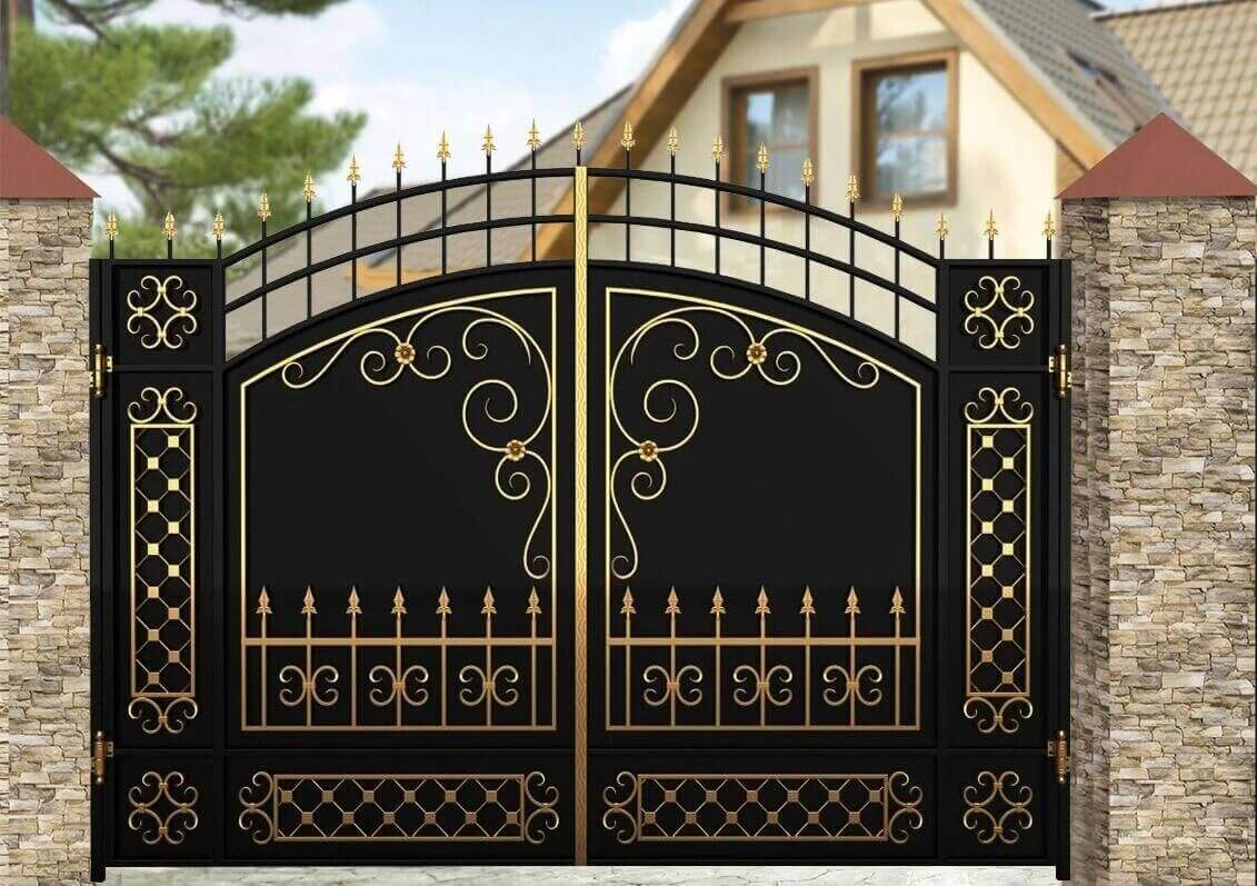 Фотографии кованых ворот фото 5